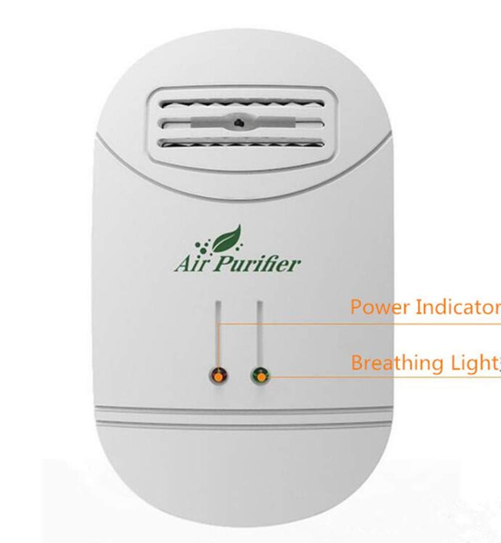 YYGIFT Air Purifier Mini Ozonator Dust Cleaner Indoor Oxygen Bar Ionizer Air Fresh Purifier Home Wall 110/220V Home Autocar Negative Ion Disinfect Sterilizer