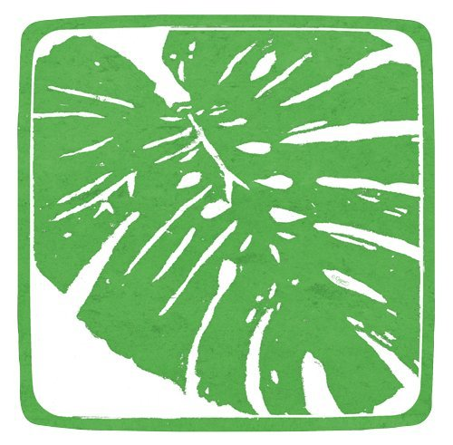 Paper Plates Salad Plates Dessert Plates Party Supplies Palm Leaves, Green, 16Pk -