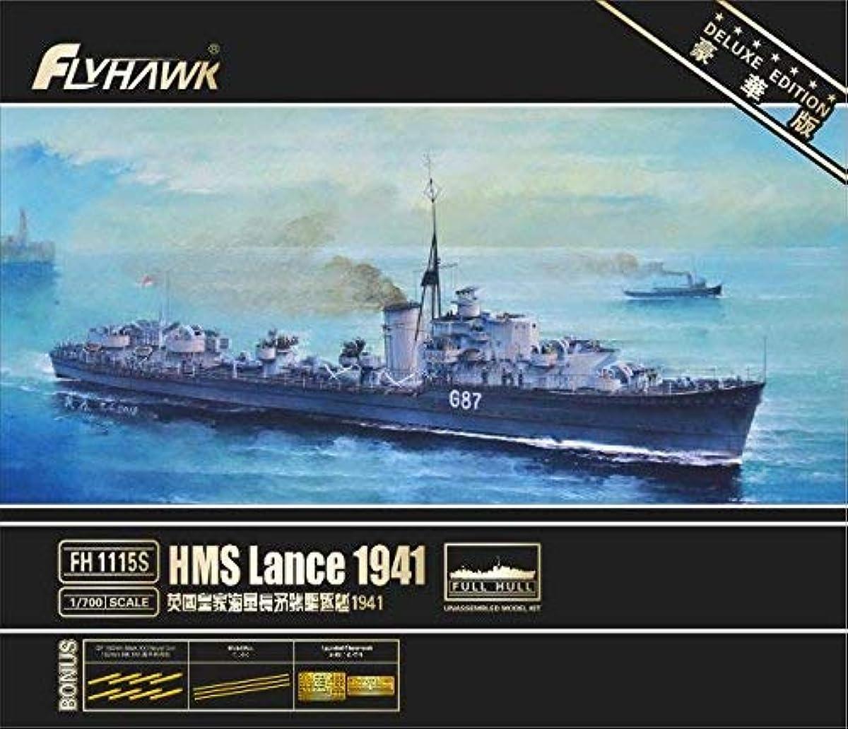 [해외] 플라이 호크 모델 1/700 영국 해군 구축함 랭스 1941년 디럭스 에디션 프라모델  FLYFH1115S