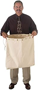 Heavy Duty 14oz Canvas 23Wx26H Post Office Mail Carrier Storage Bag W/Pull Rope