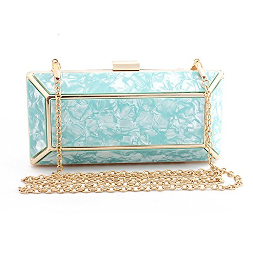 Bag with Bag Wedding Small for Handbag Clutch Women for Shoulder Evening Evening Bag Blue with Ceremony Cocktail for Party Handbag for Wallet Long Elegant UfAqAdpZw