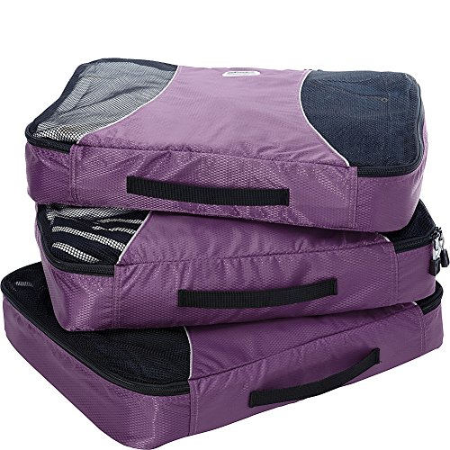 EBags Large Packing Cubes - 3pc Set (Eggplant)