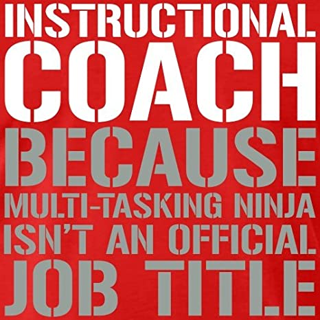 Amazon Spreadshirt Instructional Coach Ninja Job Title Mens