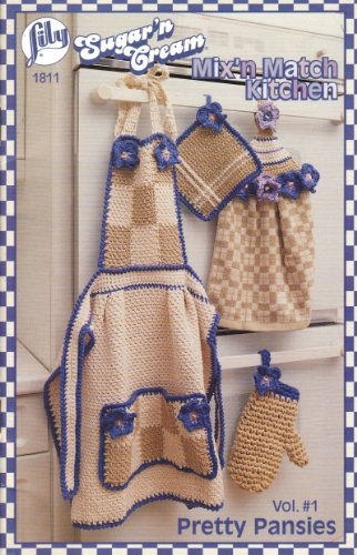 Mix'n Match Kitchen (Lily #1811) Crochet Pattern Booklet Volume #1 Pretty Pansies