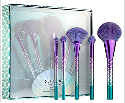Sephora Collection Ocean Crush Fan Makeup Brush Set