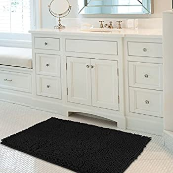 Mayshine 24x39 Inch Non Slip Bathroom Rug Shag Shower Mat Machine Washable Bath  Mats