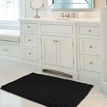 Genial Mayshine 24x39 Inch Non Slip Bathroom Rug Shag Shower Mat Machine Washable  Bath Mats