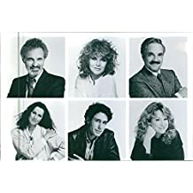 "Vintage photo of 1988Portraits of Alan Alda, Ann-Margret, John Shea, Hal Linden Veronica Hamel and Mary Kay Place from the comedy film ""A New Life""."