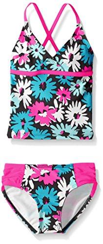 Kanu Surf Toddler Girls' Candy Beach Sport 2-Piece Tankini Swimsuit, Allison Floral Blue, 2T (1 Allison)