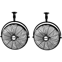 Air King 20 1/6 HP 3-Speed Enclosed Non-Oscillating Ceiling Mount Fan (2 Pack)