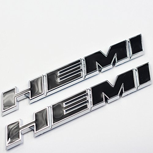 2 Pieces Tilt Black Hemi Fender Emblem Badge Decal Sticker For Dodge Charger V8 Ram 1500 Challenger Jeep Grand Cherokee Ford