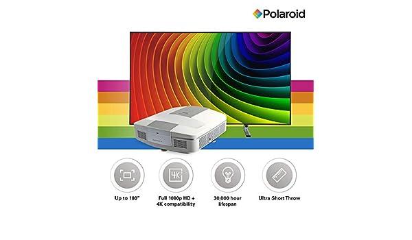 Polaroid Cinema HD U-100 Proyector de TV ultracorto y S-100 ...