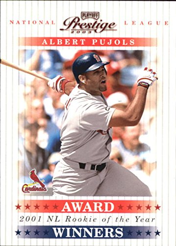 2003 Playoff Prestige Award Winners #13 Albert Pujols ROY /2001 - NM-MT - 2003 Playoff Prestige Award