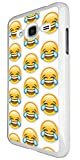 2084 - Cool Funny Emoji Collage LMFAO Crying With Laughter Design For Samsung Galaxy J1 (2016) SM-J120F Fashion Trend CASE Back COVER Plastic&Thin Metal - White