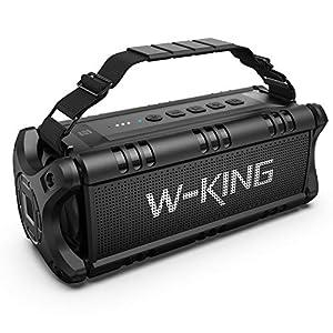 50W(70W Peak) Wireless Bluetooth Speakers Built-in 8000mAh Battery Power Bank, W-KING Outdoor Portable Waterproof TWS, DSP, NFC Speaker, Powerful Rich Bass Loud Stereo Sound