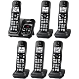 Panasonic KX-TGD564M plus two KX-TGDA51M handsets Link2Cell Bluetooth Cordless Phone with Voice Assist and Answering Machine - 6 Handsets (Certified Refurbished) (KX-TGD563M +3, KX-TGD562M +4)
