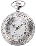 AMPM24 Quartz Pocket Watch Unisex Silver Case with Chain WPK180