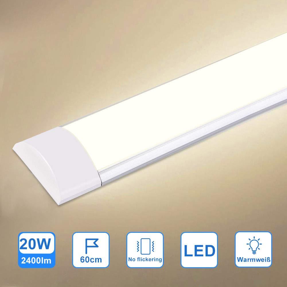 120cm LED-Deckenleuchte Schrank-Licht,LED-Streifen-Licht Super helles,Supermarktbeleuchtung f/ür Schrank 3 Modi LED K/üchenleuchte Neutralwei/ß 4000K