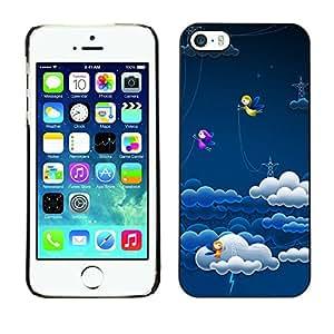 GIFT CHOICE / Teléfono Estuche protector Duro Cáscara Funda Cubierta Caso / Hard Case for iPhone 5 / 5S // Cute Fairy Angel Lightning Power //