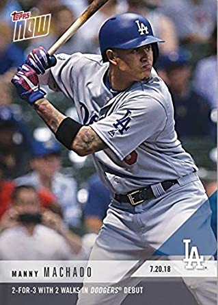 separation shoes ead3c cfb69 Amazon.com: 2018 Topps Now #476 Manny Machado Baseball Card ...