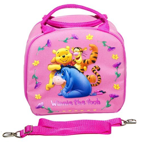 - Disney Winnie the Pooh Lunch Box with Water Bottle Pink