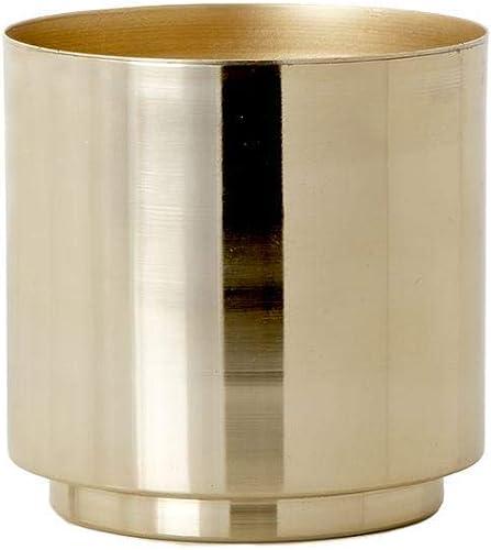 Serene Spaces Living Set of 4 Shiny Gold Finish Vase, Stylish Iron Vase, Measures 5 Diameter and 5 Tall