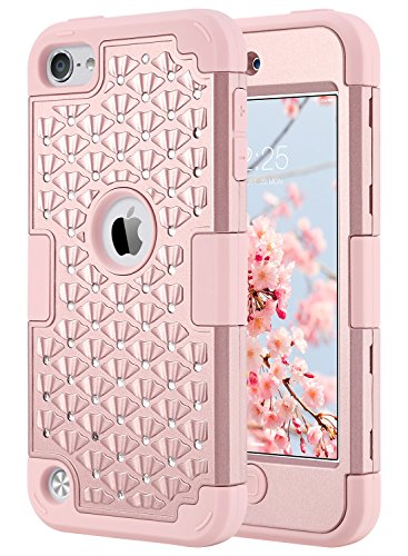 iPod Touch 6th Generation Case for girls,ULAK Bling Hybrid H