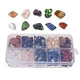 MUIIGOOD Crystal Quartz 10-Stone Mix:Crystal,Quartz,Amethyst,Natural Tumbled Stones for Cabbing,0.5lb (Crystal Quartz)