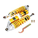 Shocks Struts Suspension Motorcycle Rear Shock Absorbers Motorcycle Stainless Steel Suspension Spring Damper Shock Struts Parts Motorbike Accessory Yellow Golden