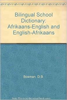 Donde Descargar Libros Gratis Bilingual School Dictionary: Afrikaans-english And English-afrikaans Kindle Lee Epub