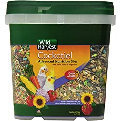 Wild Harvest WH-83541 Wild Harvest Advanced Nutrition Diet for Cockatiels, 4.5-Pound