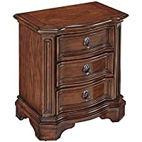 Home Styles 5575-42 Santiago Night Stand with 3 Drawers, Brown