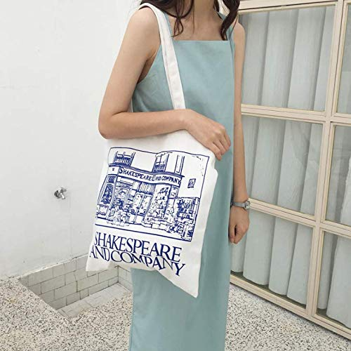 50a4e3ef9d61 Amazon.com  Women s Canvas Shoulder Hand Bag Tote Bag Canvas Tote Shoulder  Bag Stylish Shopping Casual Bag Foldaway Travel Bag Blue  Home   Kitchen