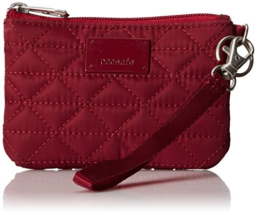 Price comparison product image Pacsafe RFIDsafe W50 Anti-Theft RFID Blocking Coin and Card Wallet,  Cranberry