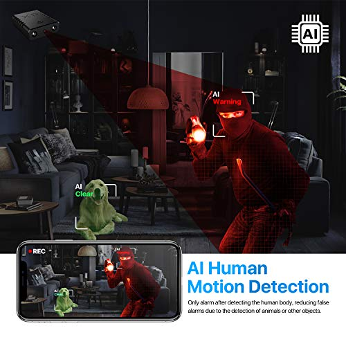 [Heimachuangyou] Spy Camera Hidden WiFi Cameras HD 1080P Smallest Mini Security Camera with Phone App for Home Indoor Tiny Portable Secret Nanny Cam with Auto Night Vision/Motion Detection Alerts