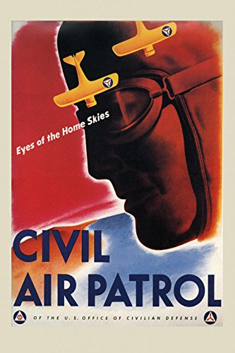 US American Civil Air Patrol Airplane Plane Aviation Vintage Poster Repro 16