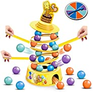 HISTOYE Tower Stacking Fun Board Game for Kids 4-6 Adults Balance Suspend Family Games for Party Montessori Tu