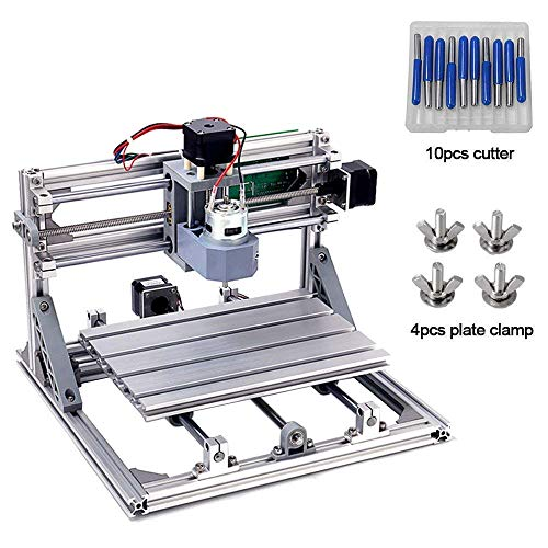 Laser Engraving Machines - DIY CNC Router Kits 2418 GRBL Control 3 Axis Plastic Acrylic PCB PVC Wood Carving Milling Engraving Machine, XYZ Working Area 240x180x45mm CNC Router Machine By Beauty Star
