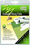 Jokari Label Once Erasable Hang Tabs Starter Kit with 20 Tabs, Eraser and Pen