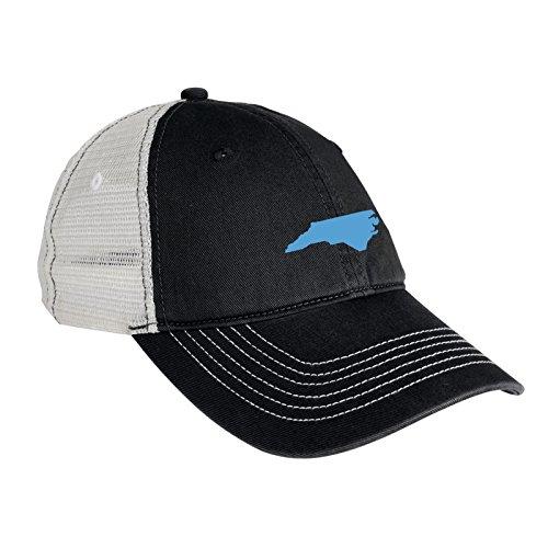 UGP Campus Apparel North Carolina State Outline Mesh Back Cap - OS - Black/White -