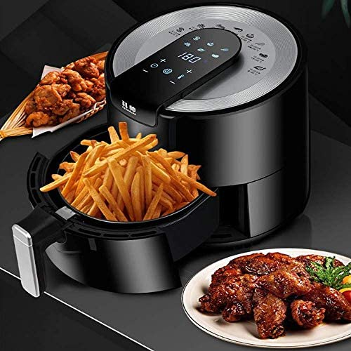 Air Fryer, 5,5 L Low Fat Fryer met LCD touch display en Double Pot Mode Air Fryer Oilless for Healthy Oil Free of Low Fat Cooking AQUILA1125