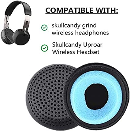 1 Pair of Ear Pads Cushion Cover Earpads Earmuffs Replacement for Skullcandy Uproar Wireless Headset