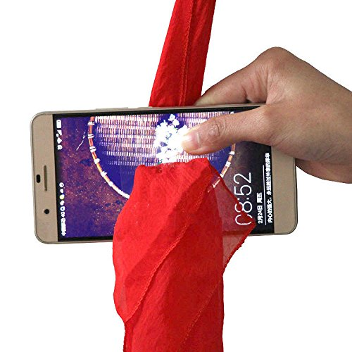 Magicswizz brand Amazing toy Magic Red Silk Thru Phone by Close-Up Street Magic Trick Show Prop (Yugioh Dark Magician Girl Costumes)
