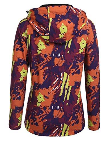 Motif Capuche Veste Pour Jaune Zeagoo Orange Pluie Impermable Femme Printemps Camouflage de Coupe Veste et Vent A xRqARvW