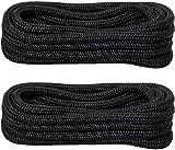 YaeMarine 4-Pack 5/8 Inch 25 FT Double Braid Nylon