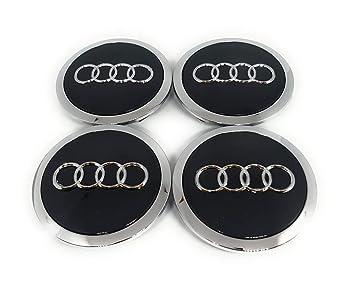 Forten Car - Juego de 4 tapones de tapacubos con logo de Audi para llantas de aleación: Amazon.es: Coche y moto