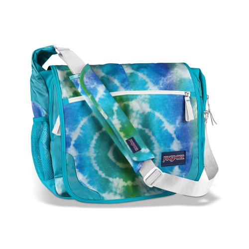 JanSport Elefunk bedruckt Messenger Bag Blinded Blue Hippy Skip
