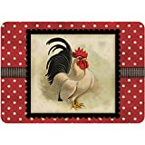 Bungalow Flooring Polk-A-Dot Cream and Black Rooster 22 in. x 31 in. Polyester Surface Mat