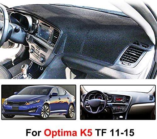Maite Fit for KIA Optima 2011-2015 Car Dashboard Cover Dash Mat with Silicone Non-Slip Bottom Anti-glare Black Line