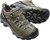 KEEN Utility Men's Detroit Low ESD Soft Toe Work Boot,Black/Green,9.5 D US